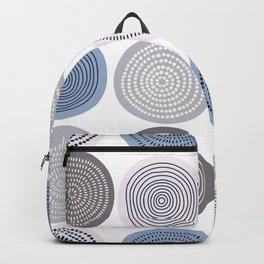Circle Ice Cream Blue Gray Backpack