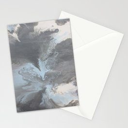 Liquid Stormy Greys Stationery Cards