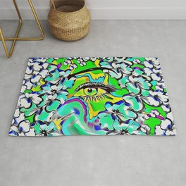 love of the tranquility flower forest pop-art Rug