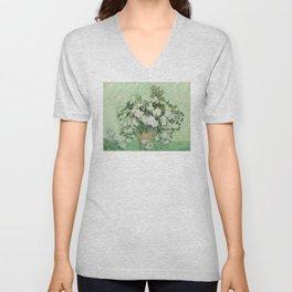 Vincent van Gogh - Roses Unisex V-Neck