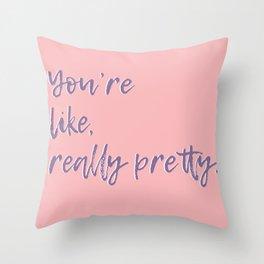 Regina George (Pink) Throw Pillow