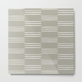 stripes offset-stone Metal Print