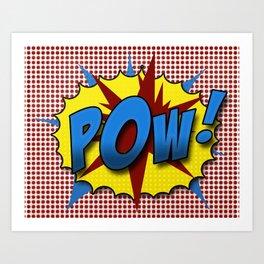 Pop Art Pow in comic Lichtenstein style Kunstdrucke