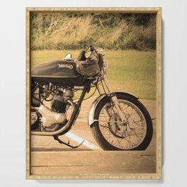 Norton commando 750 vintage motorcycle Serving Tray