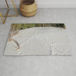 Watercolor Footprints, Mole 02, Janes Island, Maryland Rug