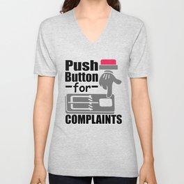 Push Button For Complaints Mouse Trap No Complaining Unisex V-Neck