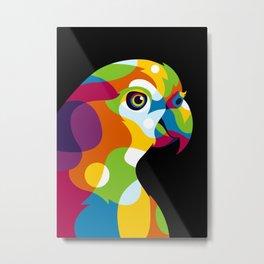 Colorful Parrot Pop Art Metal Print