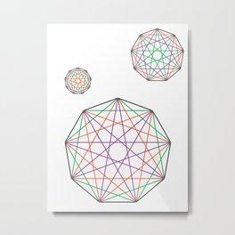 Nonagon Triad Metal Print