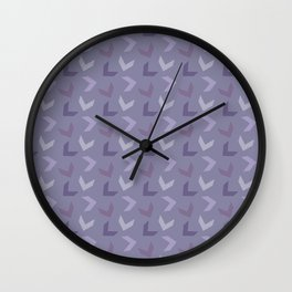 Random Arrows in Lavenders Wall Clock
