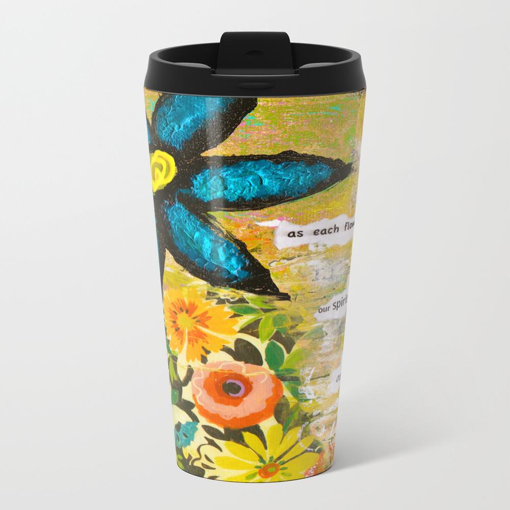 As Each Flower Blooms Metal Travel Mug by Kathleentennant MTM845374