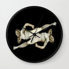 DUALITY I   -   v.black Wall Clock
