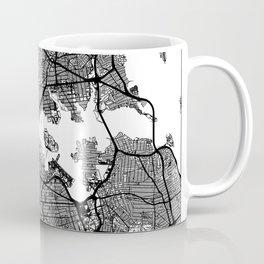 New York City, New York Map Art (White) Coffee Mug