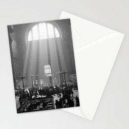 Penn Station, Rays of Light black and white photograph - black and white photography Stationery Cards
