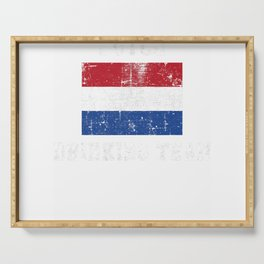 Dutch Drinking Team Funny National Pride Gift T-Shirt Serving Tray