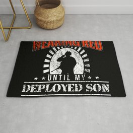 Red Friday For Deployed Military Gift Rug