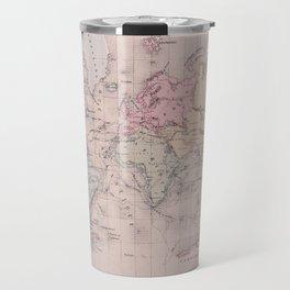 Antique Map of the World circa 1864 Travel Mug