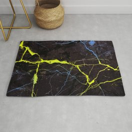 Beyond Gold and Blue Marble Rug