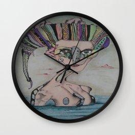 Woman in the sea Wall Clock