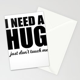 Hug Me Not touch of sarcasm funny gift Stationery Cards