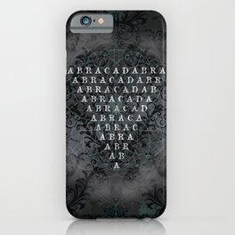 Abracadabra Reversed Pyramid in Charcoal Black iPhone Case