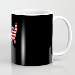 USA Map United States Flag Love Patriotism America Coffee Mug