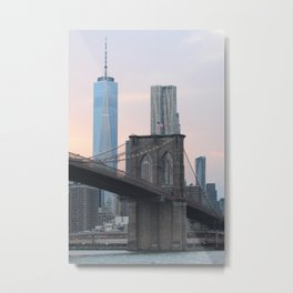 Brooklyn Bridge Sunset Metal Print