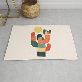 Cactus in the desert Rug