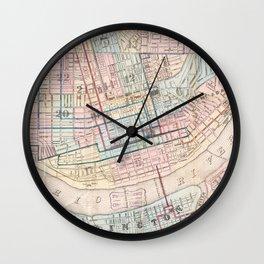 Vintage Map of Cincinnati OH (1868) Wall Clock