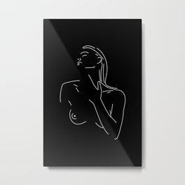 Naked Woman Illustration No.2 Metal Print