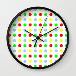 new polka dot 11 - multicolor Wall Clock
