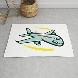 Angry Jumbo Jet Plane Mascot Rug