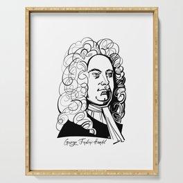 George Frideric Handel Serving Tray