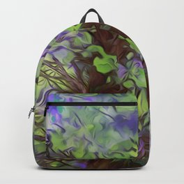 Old Tree Thick Branches Green & Blue Colors Backpack