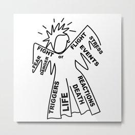 Anxiety Angel - Zine Art - Doodle Metal Print