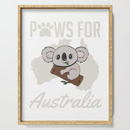 Raise Awareness And Save Australia So Wear This T-shirt Design Australia Strong Bushfire Be Strong Serving Tray
