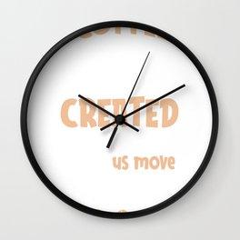 Coffee was Created T-Shirt Print Wall Clock