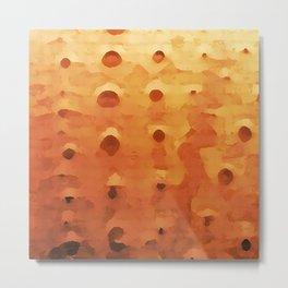 Orange Sea Urchin Metal Print