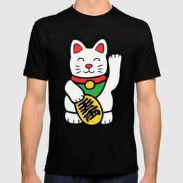 Lucky Cat Pattern T-shirt