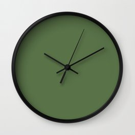KALE green solid color  Wall Clock