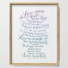Love is patient, Love is Kind-1 Corinthians 13:4-8 Serving Tray