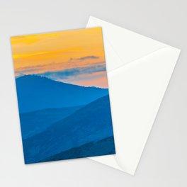 Utah Park City Mountains Sunset Large Square Print Stationery Cards