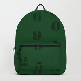 green numbers Backpack