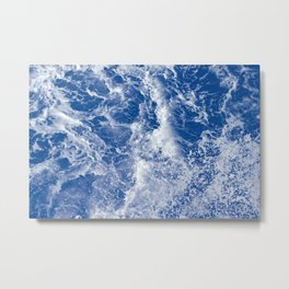 Navy Waves Summer Beach Metal Print