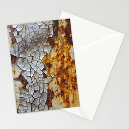 Rust pattern Iphone case -- Old rusty metal -- Orange and brown rust and paint flakes -- Stationery Cards