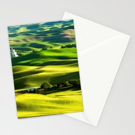 Rolling Hills & Fields of Wheat in Palouse ,Washington by Malcolm Carlaw Stationery Cards