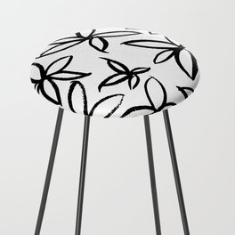 Big Floral Counter Stool