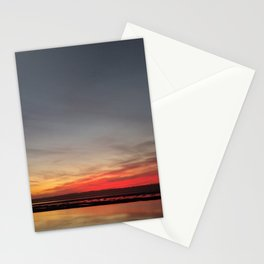 Searching for dinner in the bay. Stationery Cards