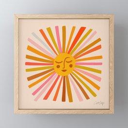 Sunshine – Retro Ochre Palette Framed Mini Art Print