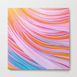 Strain Wave. Abstract Metal Print