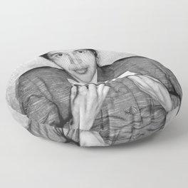 Rosa Parks Mugshot Floor Pillow